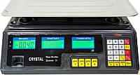 Весы Торговые Crystal 40 кг- 6v