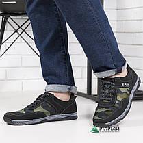 Кросівки чоловічі камуфляж зелений відтінок, фото 2