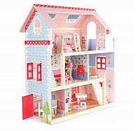 Небольшой кукольный домик для маленькой Барби 3 этажа дом для куклы Вилла Савона + 2 куклы