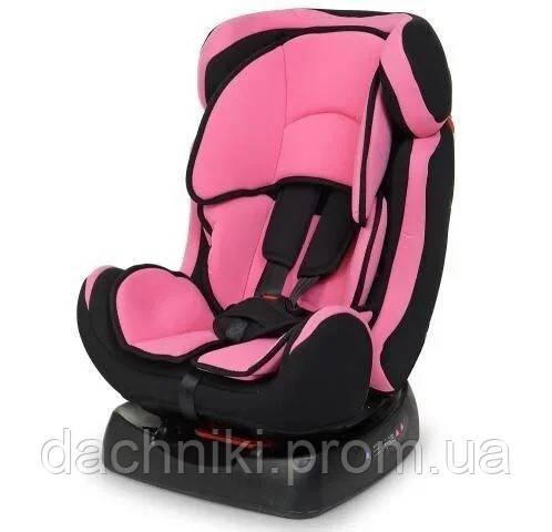Детское автокресло Bambi до 6 лет, регулируемое положение спинки,группа 0-2, розовое