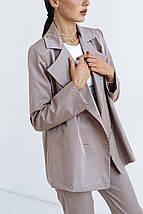 """Женский двубортный свободный пиджак """"Memory"""" на подкладке, фото 3"""