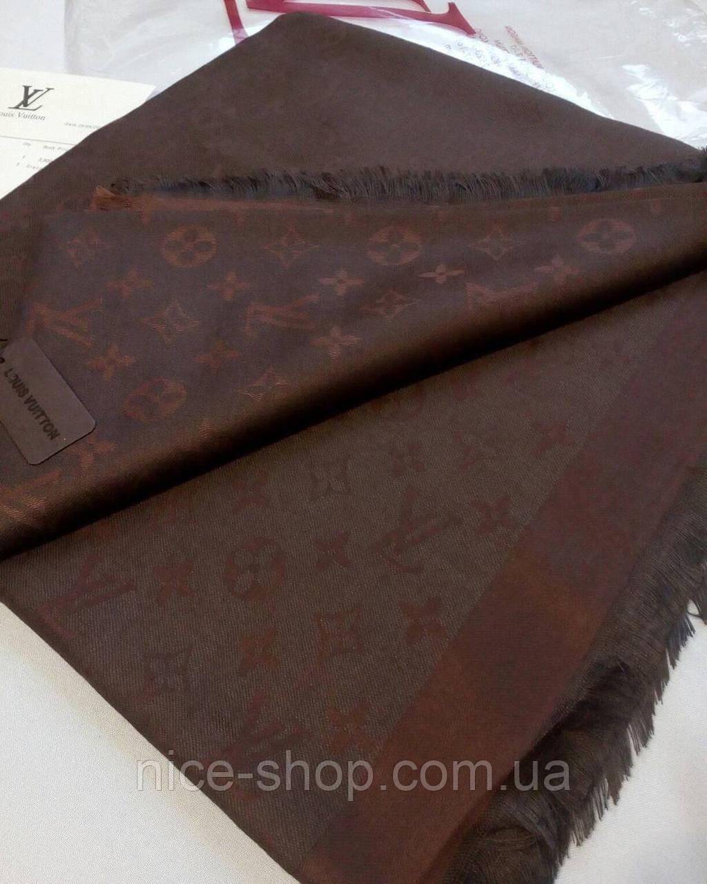 Платок Louis Vuitton черный шоколад  комби