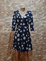 Женское платье в горох ткань Ангора