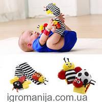 Lamaze Браслетики+носочки с игрушками-погреушками! Супер игра!