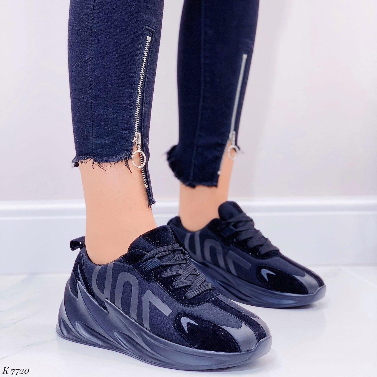 Кросівки жіночі чорні на платформі текстильні. Кросівки жіночі чорні на платформі