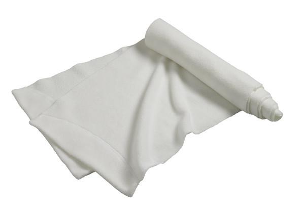 Шарф молодіжний зимовий на флісі однотонний білий