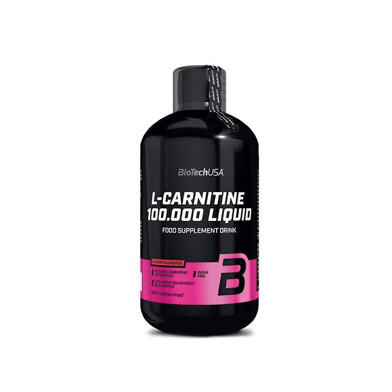 Жіросжігателя BioTech L-carnitine 100 000 Liquid, 500 ml. (ВИШНЯ)