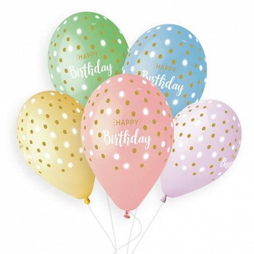 Кульки конфетті З днем народження