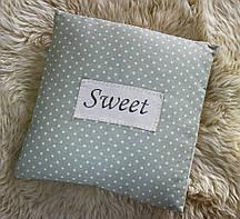 Подушка зелена — Sweet з льону