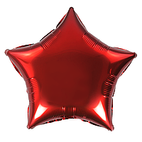 Фольгированный шар 5' Китай Звезда красная, 12 см