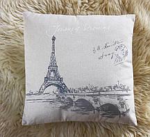 Декоративна акрилова подушка з малюнком Парижа