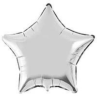 Фольгированный шар 18' Китай Звезда серебро, 44 см
