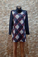 Женское платье туника в горох ткань Ангора