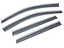 Дефлекторы окон (ветровики) с хромом Volkswagen  GOLF VARIANT 2012-2020