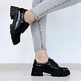 Женские туфли на шнурках на тракторной подошве, фото 8