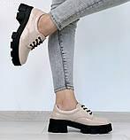 Женские туфли на шнурках на тракторной подошве, фото 2