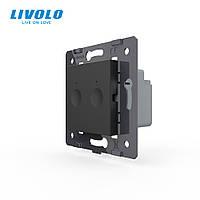 Механизм сенсорный выключатель Livolo Sense 2 канала черный (782000212)
