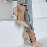Женские туфли лодочки замшевые в расцветках, фото 5