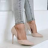 Женские туфли лодочки замшевые в расцветках, фото 6