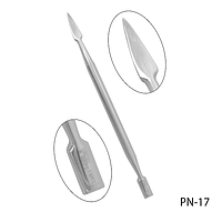 Пушер металлический двухсторонний с лопаткой Lady Victory LDV PN-17 /59-0