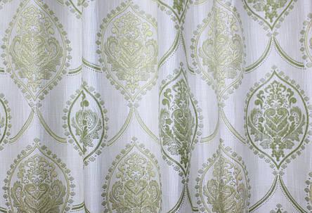 """Ткань """"Лён Корона"""". Высота 2,8м. Цвет светло оливковый с бежевым. 283ш, фото 2"""