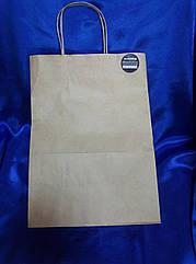 Бумажный пакет  бурый крафт 260*150*350 мм (100шт)