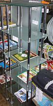 Стеклянная стойка для журналов и газет