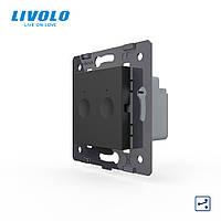 Механізм сенсорний прохідний вимикач Livolo Sense 2 каналу чорний (782000412), фото 1