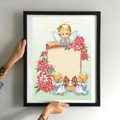 Картина Букетик на День Рождения ММДМ-005 [Материал: Габардин подклеенный флизелином]