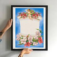 Картина Амурчик в цветах ММДМ-006 [Материал: Габардин подклеенный флизелином]