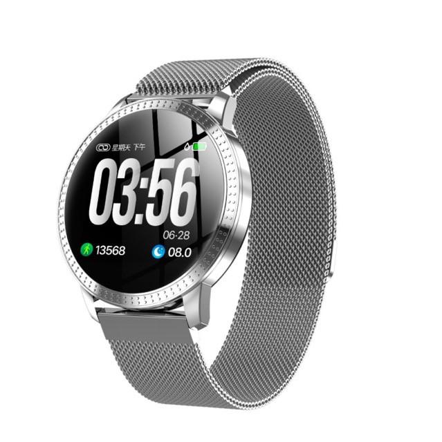 Умные смарт часы Lemfo CF18 с измерением давления (Серебристый)