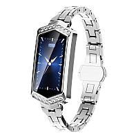 Умные часы фитнес браслет Finow B78 с цветным дисплеем и тонометром (Серебристый)