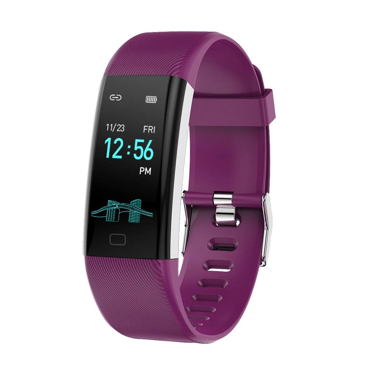 Фитнес браслет Lemfo F07 Max с измерением давления (Фиолетовый)