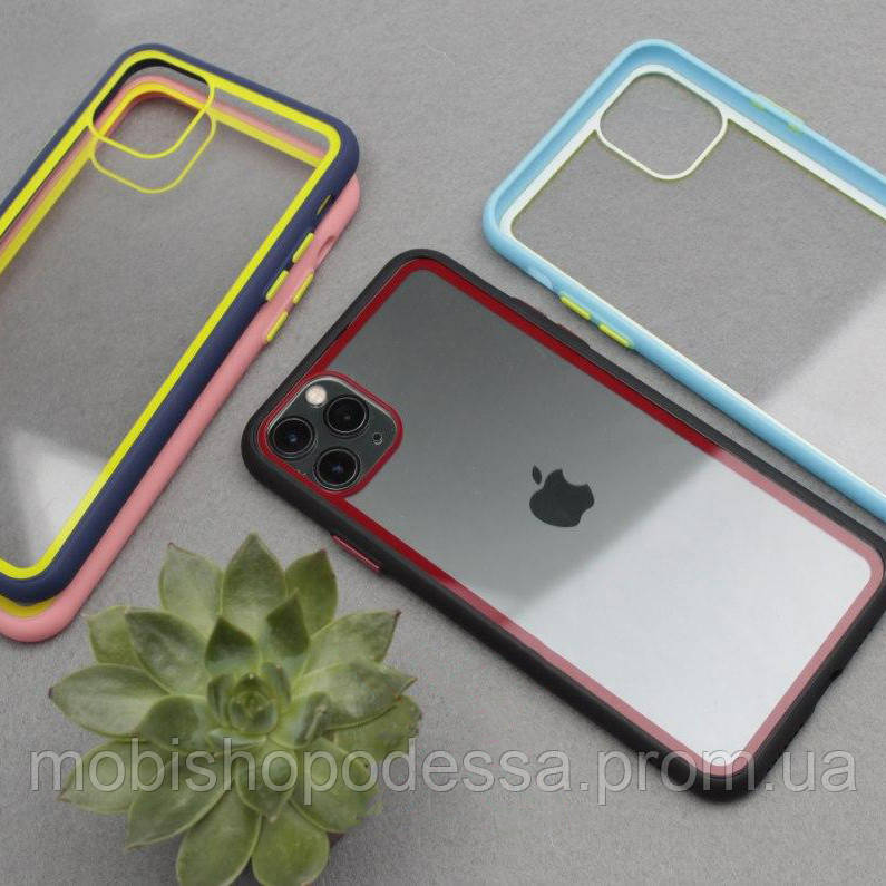 Чехол кейс Clear Case Contrast Color Bumper Apple