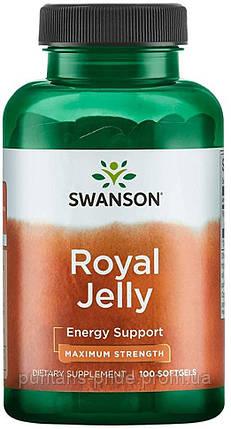 Маточне молочко, Swanson Royal Jelly 100 softgels, фото 2