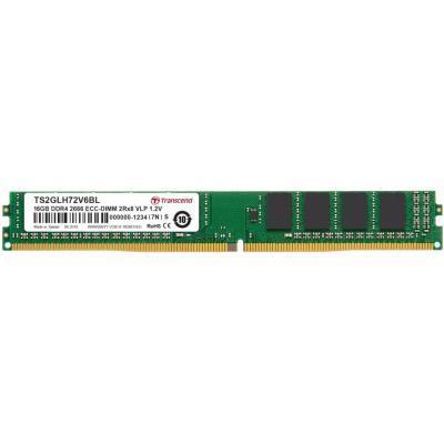 Модуль памяти для сервера DDR4 16GB ECC UDIMM 2666MHz 2Rx8 1.2V CL19 VLP Transcend (TS2GLH72V6BL)