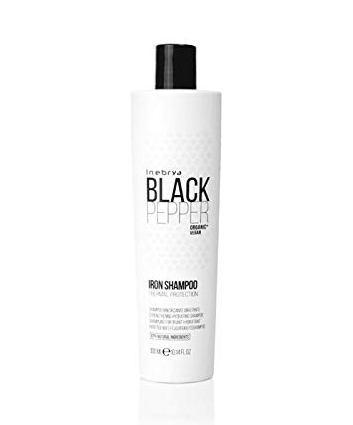 Зміцнюючий шампунь для волосся Inebrya Balck Pepper Iron Shampoo
