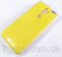 Чехол для Oppo A9 2020, Oppo A11x матовый Silicone Case Full Cover Macarons Color Желтый
