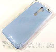 Чехол для Oppo A9 2020, Oppo A11x матовый Silicone Case Full Cover Macarons Color Голубой