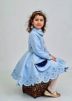 Детское кашемировое пальто с перфорацией