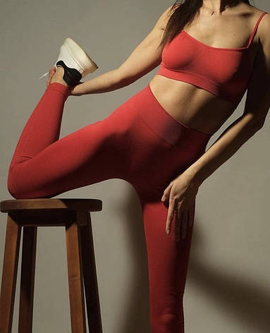 Бесшовные спортивные женские легинсы, фото 2