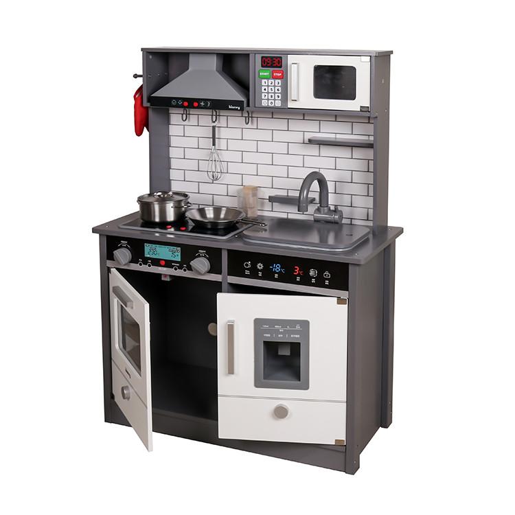 Деревянная детская кухня со звуком, подсветкой и набором посуды AVKO Аурика 41466