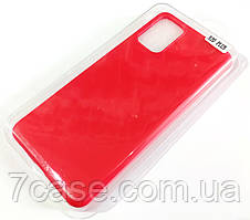 Чехол для Samsung Galaxy S20+ G985 матовый Silicone Case Full Cover Macarons Color Красный