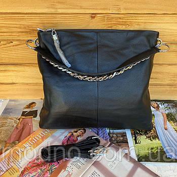 Жіноча шкіряна сумка на плече з довгим ремінцем Polina & Eiterou