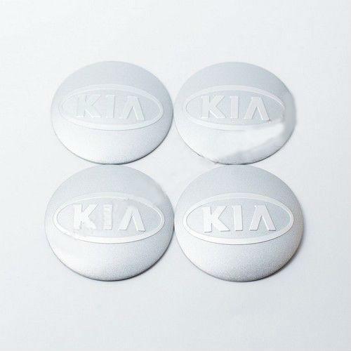 Наклейки для колесных колпачков в легкосплавные диски с логотипом   Kia (56 мм)