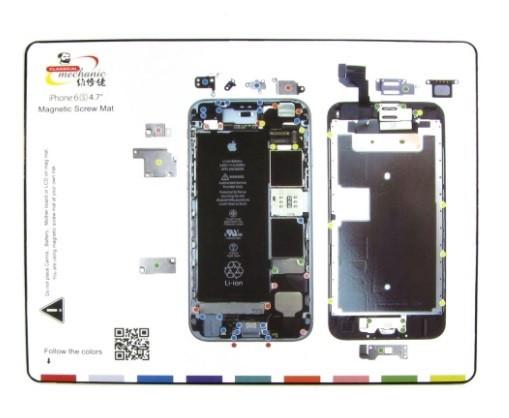 Магнитный мат MECHANIC iP6s для раскладки винтов и запчастей при разборке iPhone 6s