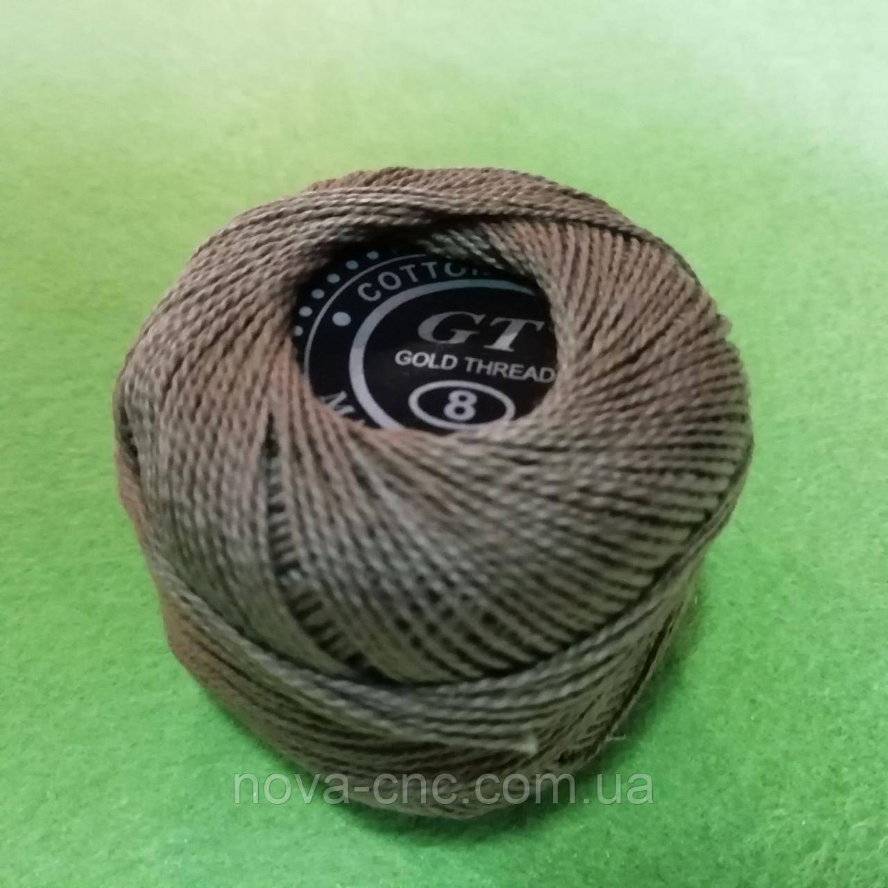 Хлопок Пряжа Ирис №8/ 10 грамм светло-коричневый с розовым оттенком 768