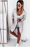 Куртка-плащёвка женская Цвета: черный, серый и нежно лиловый. Размеры: 42-44; 46-48; 50-52; 54-56 .