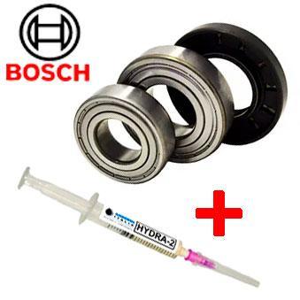 Комплект подшипников для стиральной машины Bosch (6204 + 6305 + 28*62*10/12 + СМАЗКА)