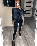 Женский спортивный костюм велюровый Цвета: синий. Размеры: 42-44, 46-48, 50-52., фото 2